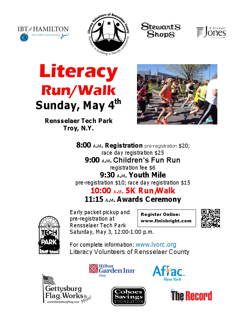 Literacy Run flyer 2014