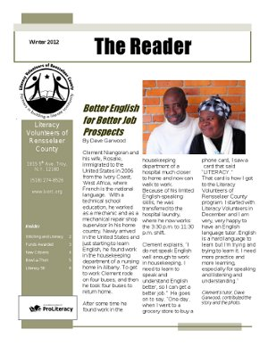 Post image for The Reader – Winter 2012